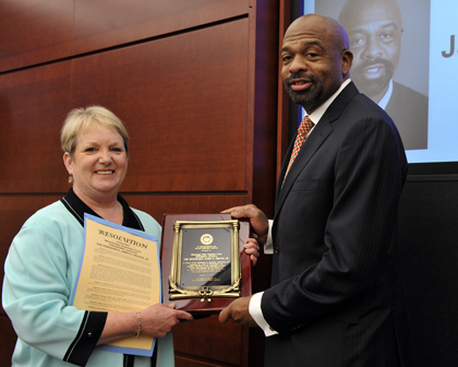 Trustee Amy Whitten and Justice James E. Graves Jr.